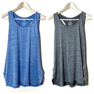 Athletic Works Workput Tank Bundle Blue Gray